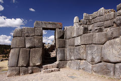Inkasteinwand in Cuzco, Peru stockfoto