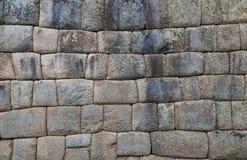 Inkawand im Dorf Machu-Picchu, Peru, Südamerika lizenzfreie stockfotografie