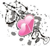 Inkblot van het hart Royalty-vrije Stock Foto