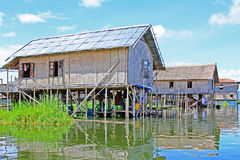 Inke Lake Tall House Village, Myanmar. Inle Lake is a freshwater lake located in the Nyaungshwe Township of Taunggyi District of Shan State It is the second Stock Images