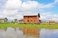 Inke Lake Tall House Village, Myanmar Stock Photos
