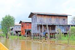 Inke Lake Tall House Village, Myanmar Royalty Free Stock Photo