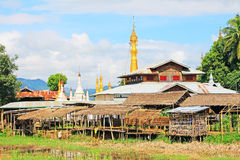 Inke Lake Tall House Village, Myanmar. Inle Lake is a freshwater lake located in the Nyaungshwe Township of Taunggyi District of Shan State It is the second Stock Image