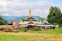 Inke Lake Tall House Village, Myanmar. Inle Lake is a freshwater lake located in the Nyaungshwe Township of Taunggyi District of Shan State It is the second Royalty Free Stock Images