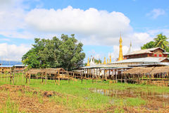 Inke Lake Tall House Village, Myanmar. Inle Lake is a freshwater lake located in the Nyaungshwe Township of Taunggyi District of Shan State It is the second Stock Photography