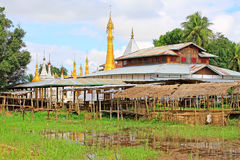 Inke Lake Tall House Village, Myanmar. Inle Lake is a freshwater lake located in the Nyaungshwe Township of Taunggyi District of Shan State It is the second Royalty Free Stock Image