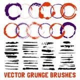 Inked Circle Brush Styles Set Stock Photo