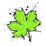 Inked leaf Stock Photo