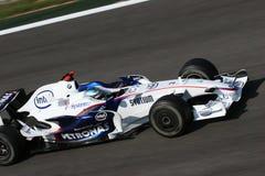 Inkeping Heidfeld op F1 Stock Fotografie