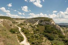 Inkerman Le monastère et une forteresse Calamita de caverne images stock