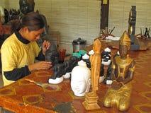 Inking Buddha statues Stock Image