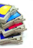 Inkjet cartridge. Photograph of ink-jet printer cartridge royalty free stock photo
