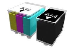 Inkjet cartridges (3D) Stock Images