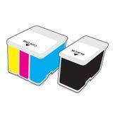 Inkjet cartridges. CMYK - Vector illustration stock illustration