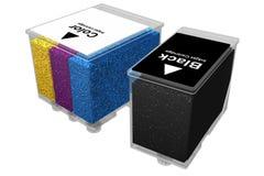 Inkjet cartridges - Transparent (3D). Photo of Inkjet cartridges - Transparent (3D royalty free illustration
