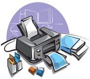 inkjet drukarka Obrazy Stock