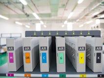 Inkjet paleta dla cyfrowej drukowej maszyny Paleta zawierająca obraz stock