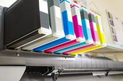 Inkjet plotter printer. Toner - Digital printing. Inkjet plotter printer stock photography