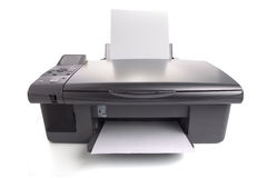 Inkjet printer. With white papers. You can put your images Stock Photography