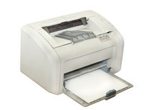 Inkjet printer. Under the white background Royalty Free Stock Image