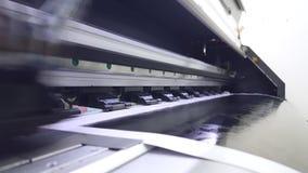 Inkjet printer head working stock video footage