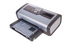 Inkjet printer isolated on white royalty free stock photo