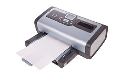 Inkjet printer isolated on a white. Background Stock Photos