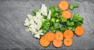 Inkludera grönsaker kritiserar royaltyfria foton