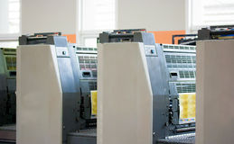 inkludera maskinen förskjuten banaprinting Royaltyfria Bilder