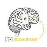 Inklusive hjärnan royaltyfri illustrationer