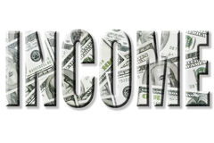 Inkomen Stock Foto
