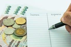 Inkomen & uitgave Stock Fotografie