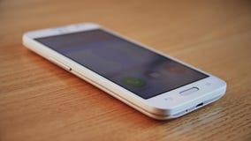 Inkomende Vraag op Slimme Telefoon Geen antwoord Vraag Gebeëindigde 4K stock video