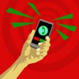Inkomende vraag op uw smartphone Stock Foto's