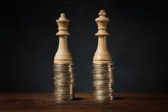 Inkomensverschillen tussen mannen en vrouwen stock foto's