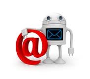 inkomma e-post Arkivbilder
