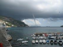 Inkommande bedragare för Aa i Dubrovnik, Kroatien Royaltyfri Fotografi