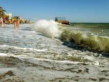 Inkommande havsvåg fotografering för bildbyråer