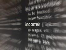 inkomst arkivbilder