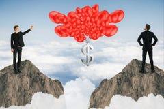 Inkomst-, pengar- och besparingbegrepp Arkivbilder