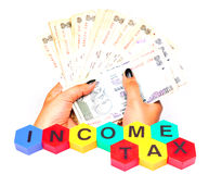 Inkomstenbelasting Stock Afbeelding