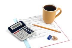 Inkomstenbelasting stock foto