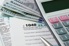 Inkomstenbelasting royalty-vrije stock afbeelding