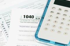 1040 inkomstenbelastingsvorm Stock Afbeelding
