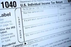 Inkomstenbelastingsvormen Stock Afbeelding