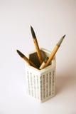 inkpainting画笔的汉语 库存照片