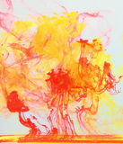 Inks diluting in water Royalty Free Stock Photography