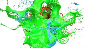 Inks splashes in white background 3d illustration Stock Photo