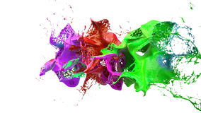 Inks splashes in white background 3d illustration Stock Images