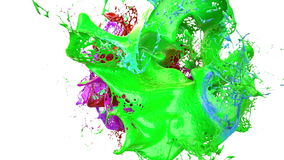 Inks splashes in white background 3d illustration Royalty Free Stock Photo